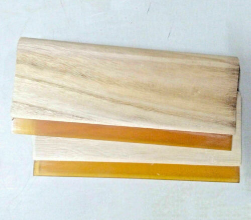 2pcs Excellent 13 inch (33cm) Widen Oiliness Squeegee 75 Durometer USA Stock New
