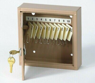 Vintage Key Lock Box Storage Metal Wall Mount Holder Security Safe Cabinet W Key