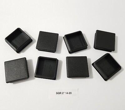 14 Gauge Black Caps ((8) Eight Square 2