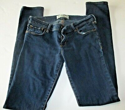 Abercrombie Kids Girls Size 16 Denim Jeans Cute Stretch Dark Wash