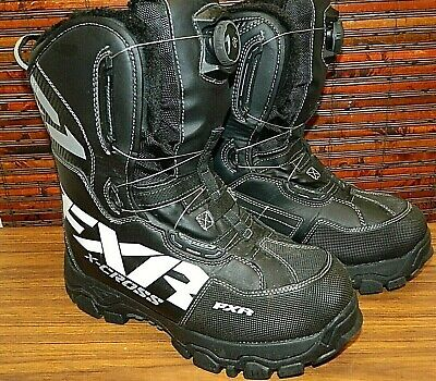 New FXR X-Cross BOA Snowmobile Winter Boots Black White Men's size 11 US 45 EU