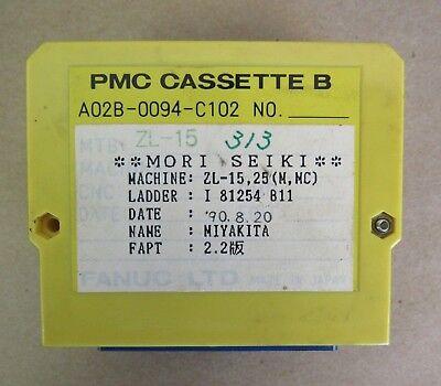 Fanuc Pmc Cassette B A02b-0094-c102 From Mori Seiki Zl-15 Ladder I 81254 B11