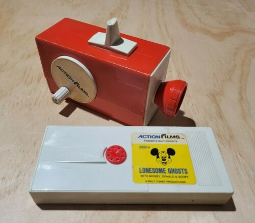Vintage Action Films Viewer With Disney Lonesome Ghosts Film Projector Mickey