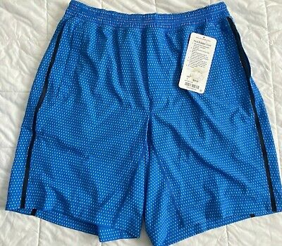 Lululemon Pace Breaker Short Size XL Men's ILWN Retail $68 Blue/White