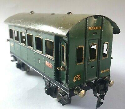 Märklin Spur 0 Personenwagen 2. u. 3. Klasse 1731 Blech Spielzeug Eisenbahn~1935