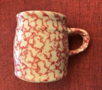 The Workshops of Gerald Henn ~ Red Spongeware Mug ~  Mint