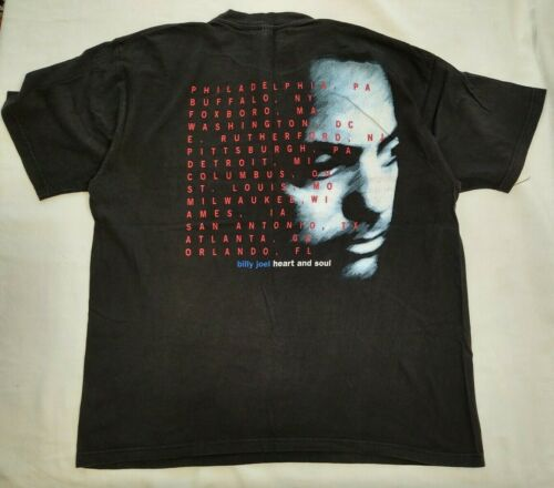 Vintage Billy Joel Summer 94 Heart And Soul Tour Shirt Authentic Vtg 2 Sided XL