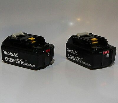2 pc Makita BL1840B Batteries 18V LXT Lithium-Ion 4.0Ah Rechargeable Battery LED