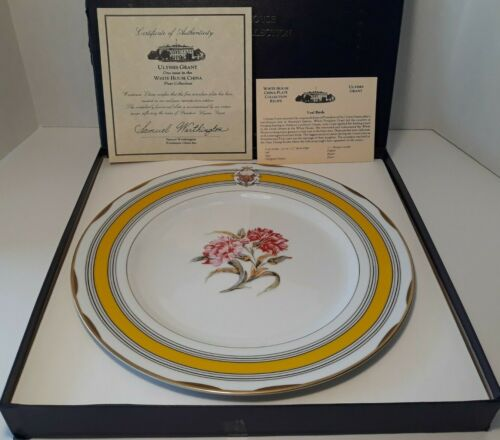 Woodmere White House Collection Ulysses S Grant Dinner Plate w/COA & Recipe Card