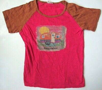 YOUTH GIRLS HAPPY CAMPER RV CAMPING SHIRT SIZE - Camper Girls Shirt