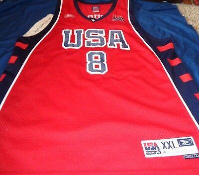 Carmelo Anthony Usa Jersey (Carmelo Anthony #8 2004 Olympic Dream Team USA Basketball Reebok Jersey XXL 2XL  )