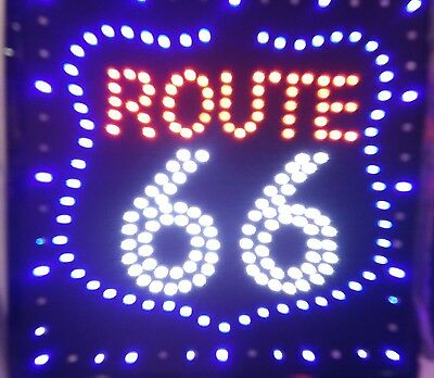 Route 66 Neon Led Signhighway Bar Station Beer Bar Pub Decor Lights Sign 20x20
