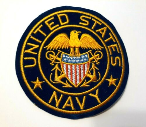 """United States Navy Patch Sew or Iron On    4"""""""