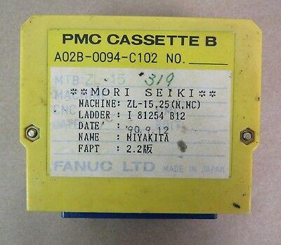 Fanuc Pmc Cassette B A02b-0094-c102 From Mori Seiki Zl-15 Ladder I 81254 B12
