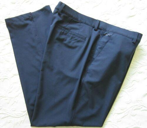 GREG NORMAN PLAYDri 38X30 Polyester/Spandex Navy Blue Golf Pants