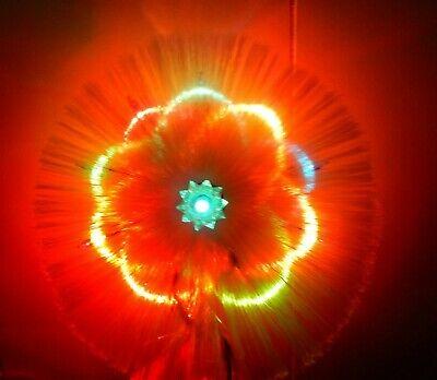Vtg 10 Light multi color Halo Christmas Tree Topper 2 settings orig. box