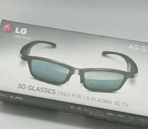 New LG AG-S350 3D Glasses Sealed w/Tear (Only For LG Plasma 3D TV/Projector) Box