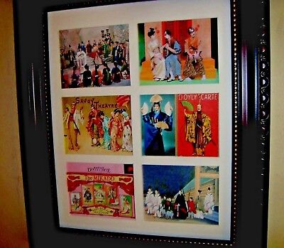 THE MIKADO   -  6 MINIATURE OPERA POSTERS IN A FRAME