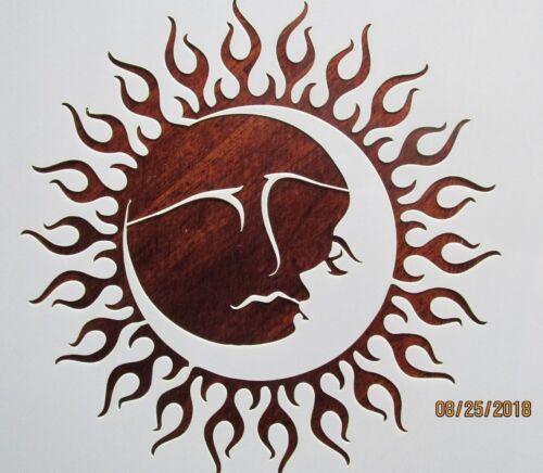 Sun Moon 2 piece Stencil/Template Reusable 10 mil Mylar
