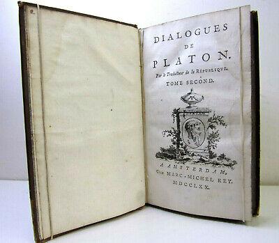 1770. Dialogues de Platon, Par le traducteur de la République