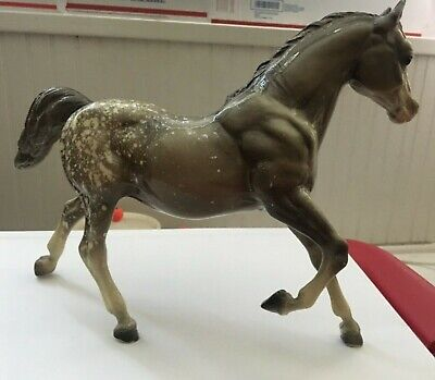 VINTAGE BREYER Glossy Grey Appaloosa Running Horse Mare spotted gray polka dot