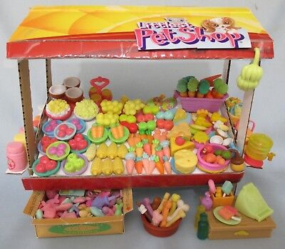 Littlest Pet Shop Lot 10 Random Food Grocery Store Fruit Shop Accessories -