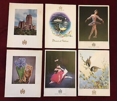 Vintage 1966 Set of Six Menus from the Royal Mail Lines Cruise Ship RMS Andes