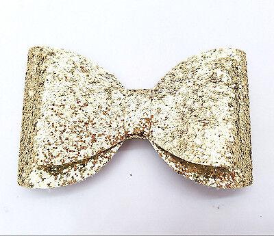 Gold Glitter Bow (5