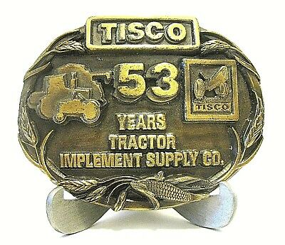 Tractor Implement Supply Company TISCO 53 Year Belt Buckle Ltd Ed 1988 Series 1