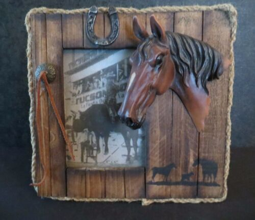 Home Decor Picture Frame Western Horse 3D