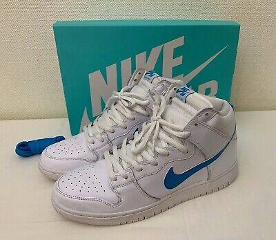 Nike SB Dunk High Pro - Men's White/Orion Blue -White Skate Shoes   UK 11 EU 46
