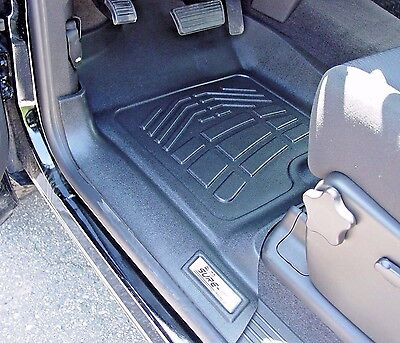 2007 - 2013 GMC Sierra 1500 Extended Cab 2-Piece Black Front Floor Liners Cab Black Front Floor Liners