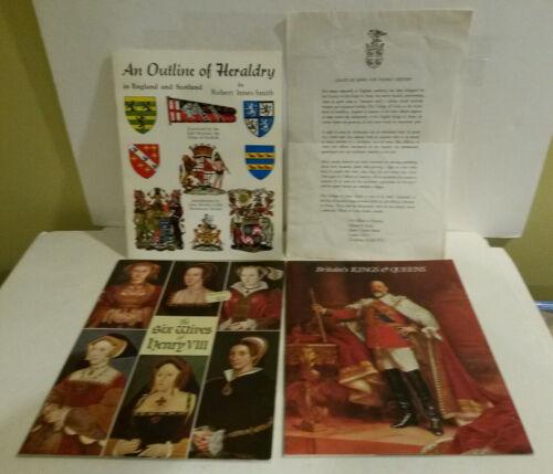 Heraldry Innes Smith Britians Kings Queens Wives Henry VIII book UK lot 3 1980s