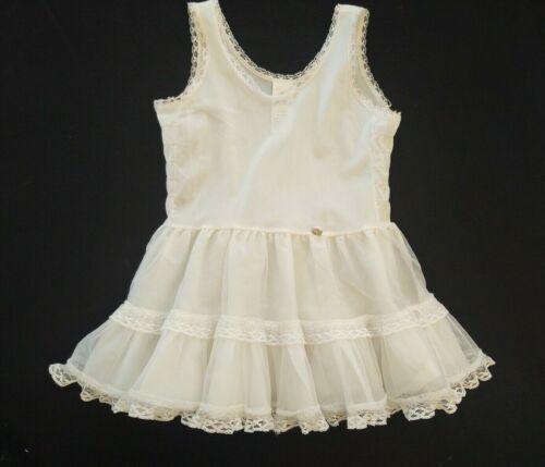 Vintage Her Majesty Full Circle Bouffant Flounce Petticoat Crinoline Slip 4T