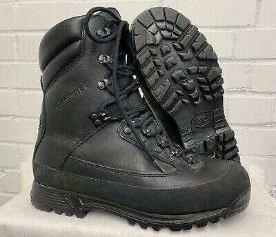 KARRIMOR SF BLACK LEATHER COLD WET WEATHER COMBAT BOOTS - 9 Wide , British Army