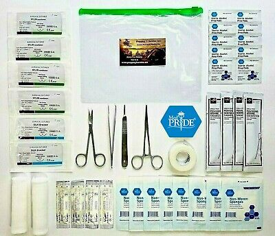 Advanced Surgical Suture Kit BUG OUT BAG SURVIVAL Trauma Med