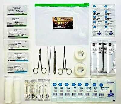 Best NEW ADVANCED SURGICAL SUTURE KIT BUG OUT BAG SURVIVAL TRAUMA MEDICAL FIRST AID