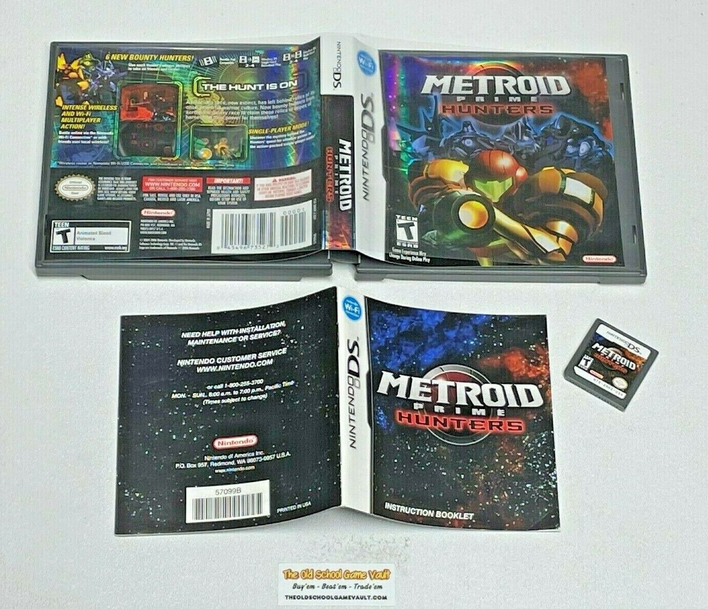 Metroid Prime Hunters - Complete Nintendo DS Game Authentic - $54.90