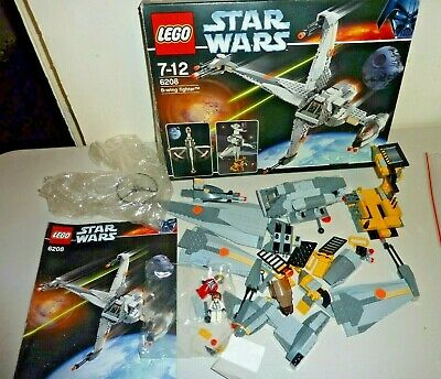 lego star wars 6208 b-wing fighter complete used 2006