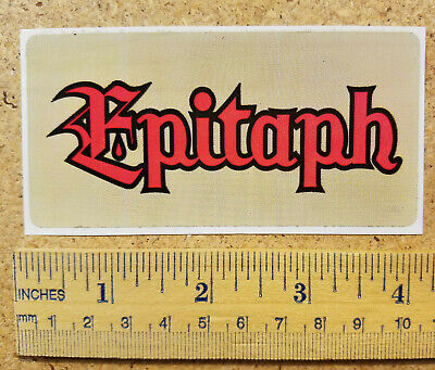 Epitaph Records Logo Sticker (CB) for sale  Shipping to India