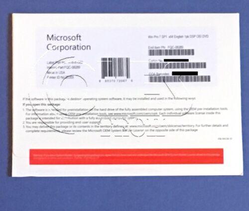 ~~~Microsoft Windows 7 Pro Professional SP1 64bit OEM Full Version & Laptop~~~