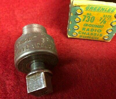 Vintage Rare Greenlee Round Radio Chassis Punch 730 78 Inch Nos