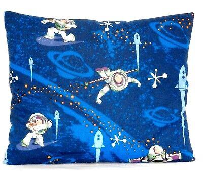 Baby Buzz Lightyear (Buzz Light year Toddler Pillow on Blue Cotton BL8-11 New Handmade)