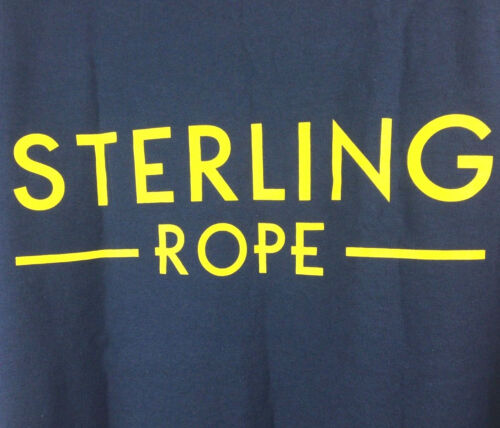 Sterling Rope Mens Large (44 in Chest) Blue Logo Rock Mountain Climbing T-Shirt