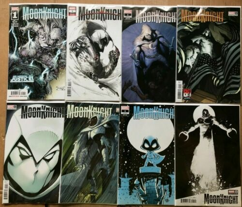 MOON KNIGHT #1 VARIANT SET OF 8 COVERS (NM) 2021 MARVEL - ZAFFINO ROMITA YOUNG++