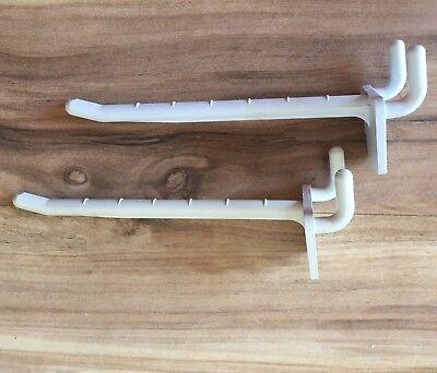 40 - 4 Slat Wall Or Peg Board Lightweight Plastic Merchandising Fixture Hooks