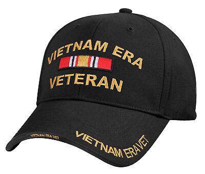 Black US Army Vietnam Era Veteran Vet Ribbon Baseball Hat Cap Rothco 7619