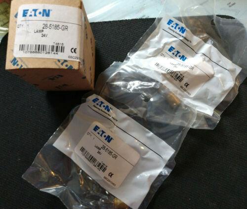 Eaton 28-5185-GR Miniature Incandescent Bulb, 757, 24V (Set of 2)