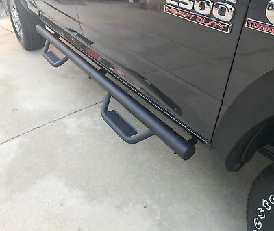 09-18 Fit Dodge Ram 1500 Crew Cab Black Steps Nurf Bars Running Boards
