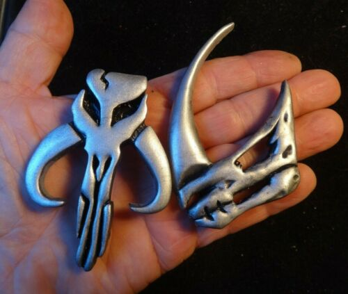 """Star Wars Mandalorian and """"Clan of Two"""" signet Pins"""